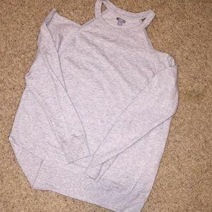 Aerie cold shoulder sweatshirt